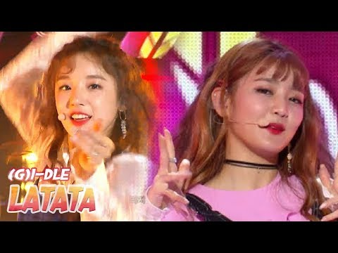 [HOT] (G)I-DLE - LATATA,  (여자)아이들 - 라타타 Show Music core 20180519