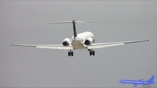 Insel Air McDonnell Douglas MD-83 (DC-9-83) Crosswind Landing at Miami Airport
