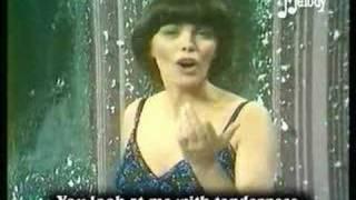 Mireille Mathieu Je t'aime avec ma peau English subtitles