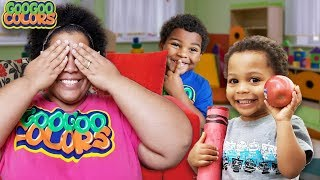 Peek A Boo Song! (Family Music Video With Goo Goo Colors)