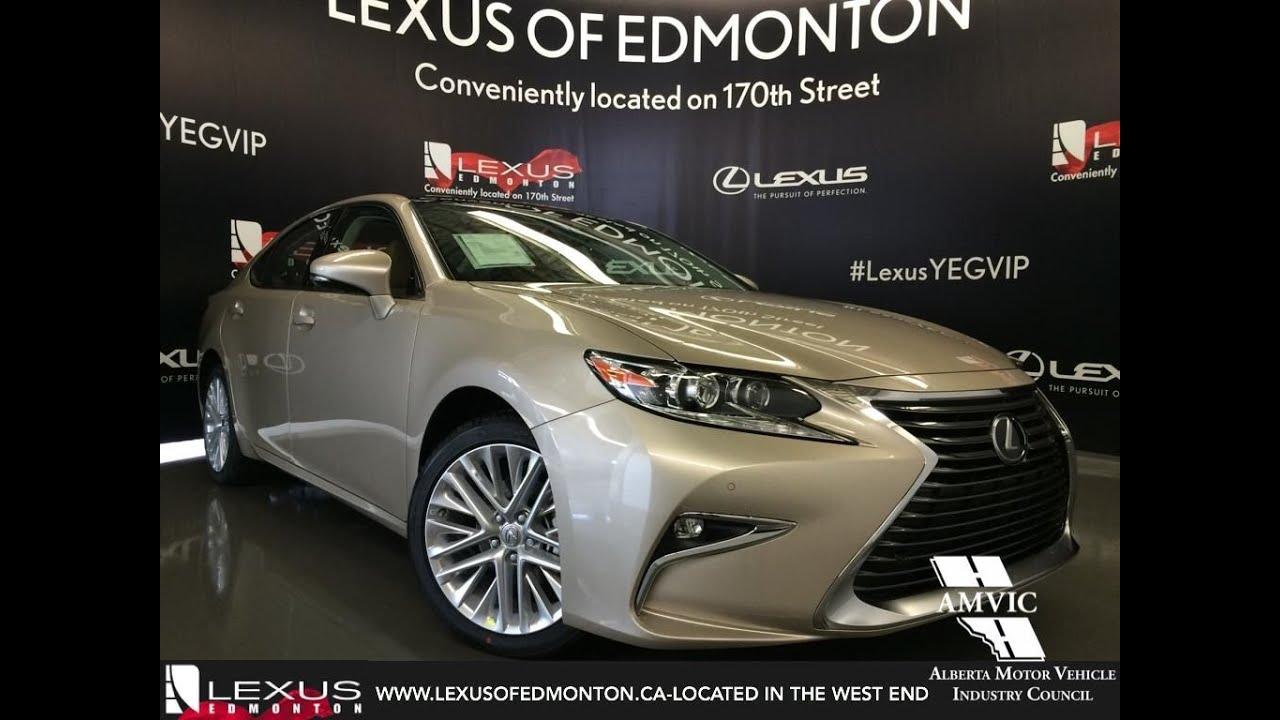 New tan on flaxen 2016 lexus es 350 executive review west edmonton alberta youtube