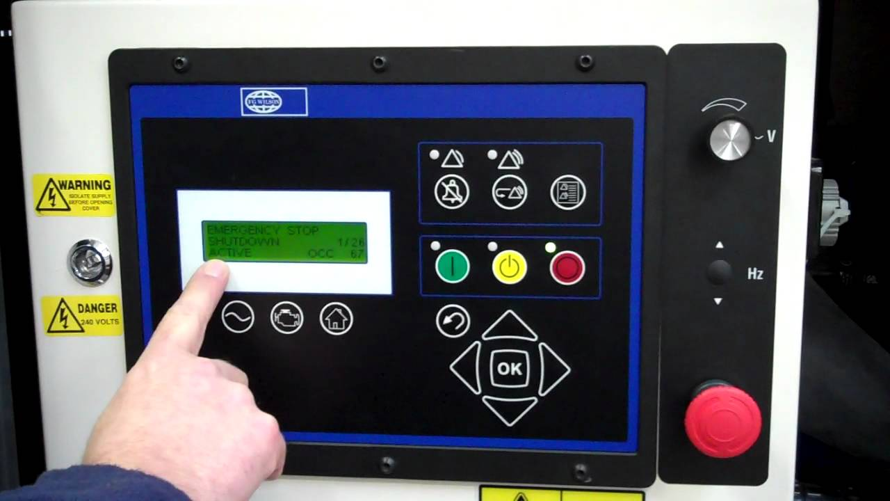 hight resolution of fg wilson powerwizard control panel