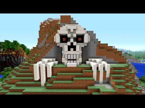 Minecraft Tutorial: How to Make a Skeleton House   Scary Halloween House   Cave House   Skull