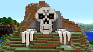 Minecraft Tutorial: How to Make a Skeleton House | Scary Halloween House | Cave House | Skull