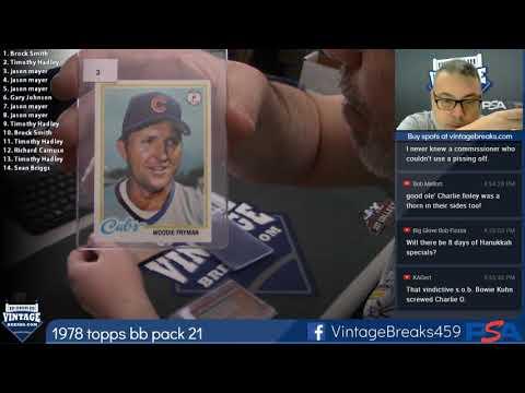 2018 11 26 1978 Topps Baseball Wax Pack 21