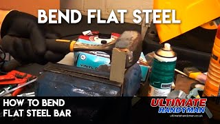 How to bend flat steel bar