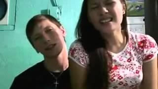 """American guy duets w/ her Filipina gf """"Hanggang Ngayon"""""""
