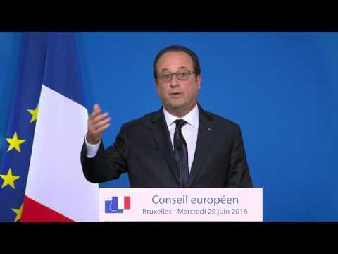 President Francois Hollande European Union Brexit: