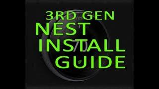 3rd Gen Nest Thermostat install in under 3 minutes!