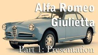 Alfa Romeo Giulietta - 1 Presentation of the car 1954
