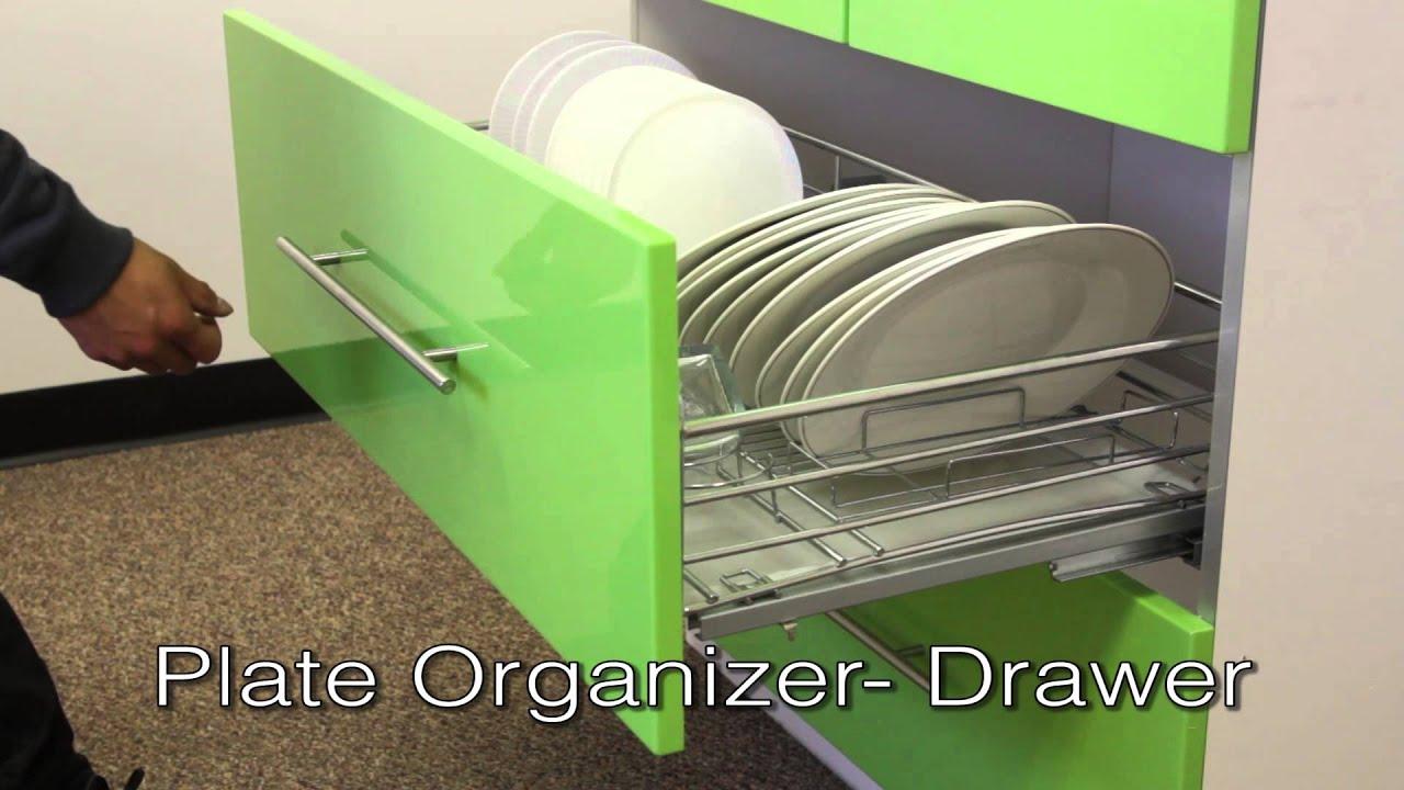 Plate Organizer Drawer Youtube