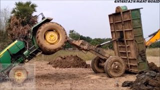 Hanging Front Whells Of Load John Deere Tractor | Rescue By Jcb 3dx.