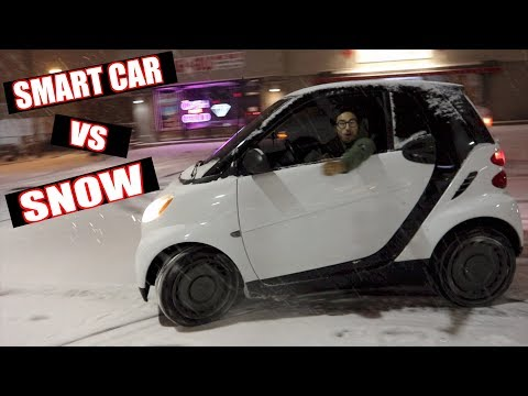 SMART CAR VS SNOW !! | BRAAP VLOGS