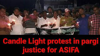 Justice for Asifa, Candle Light Protest Rally  ...