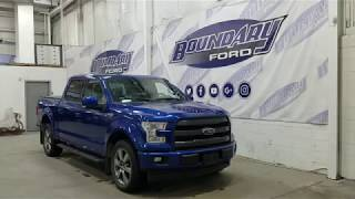 Pre-owned 2017 Ford F-150 SuperCrew Lariat Sport 502A W/ 5.0L, Leather Overview | Boundary Ford