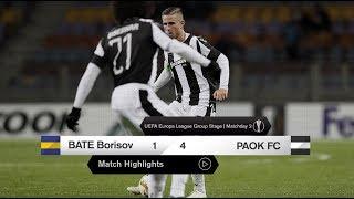Τα στιγμιότυπα του ΜΠΑΤΕ Μπορίσοφ-ΠΑΟΚ - PAOK TV