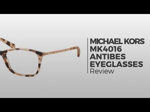9500cb95cc68 Michael Kors MK4016 ANTIBES Eyeglasses | Flash Preview - YouTube