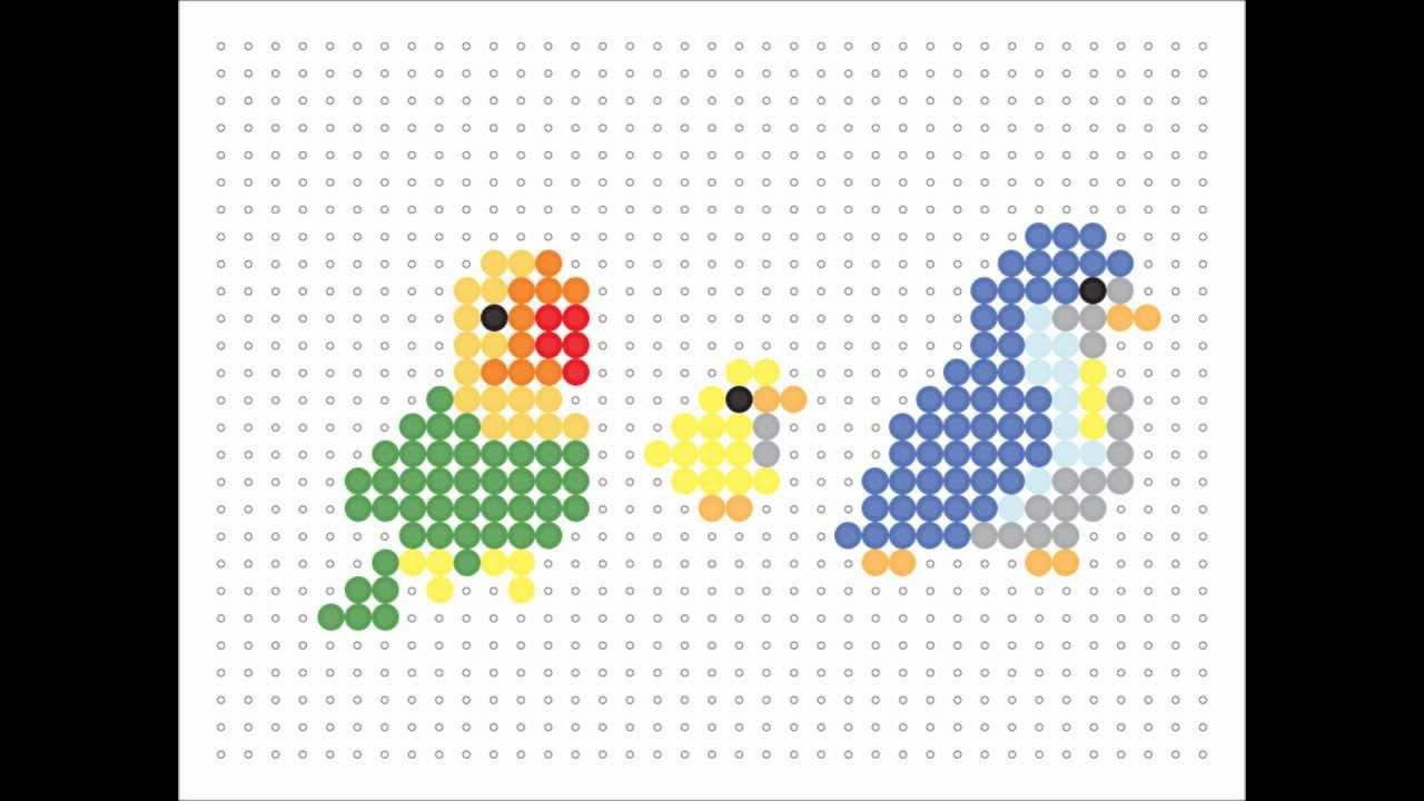 Hama Bead Birds Animal Series 15 Youtube
