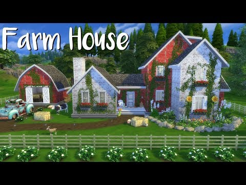 The Sims 4: Speed Build - FARM HOUSE + CC List