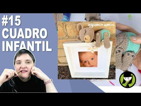 Cuadro infantil amigurumi 15 paso a paso