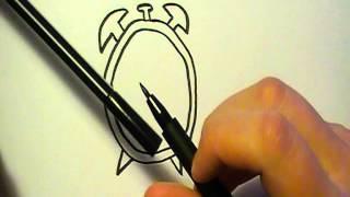 Lær at tegne ET VÆKKEUR | HVORDANTEGNERJEG.DK