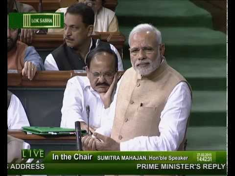 PM Modi's reply to Motion of thanks to President's Address