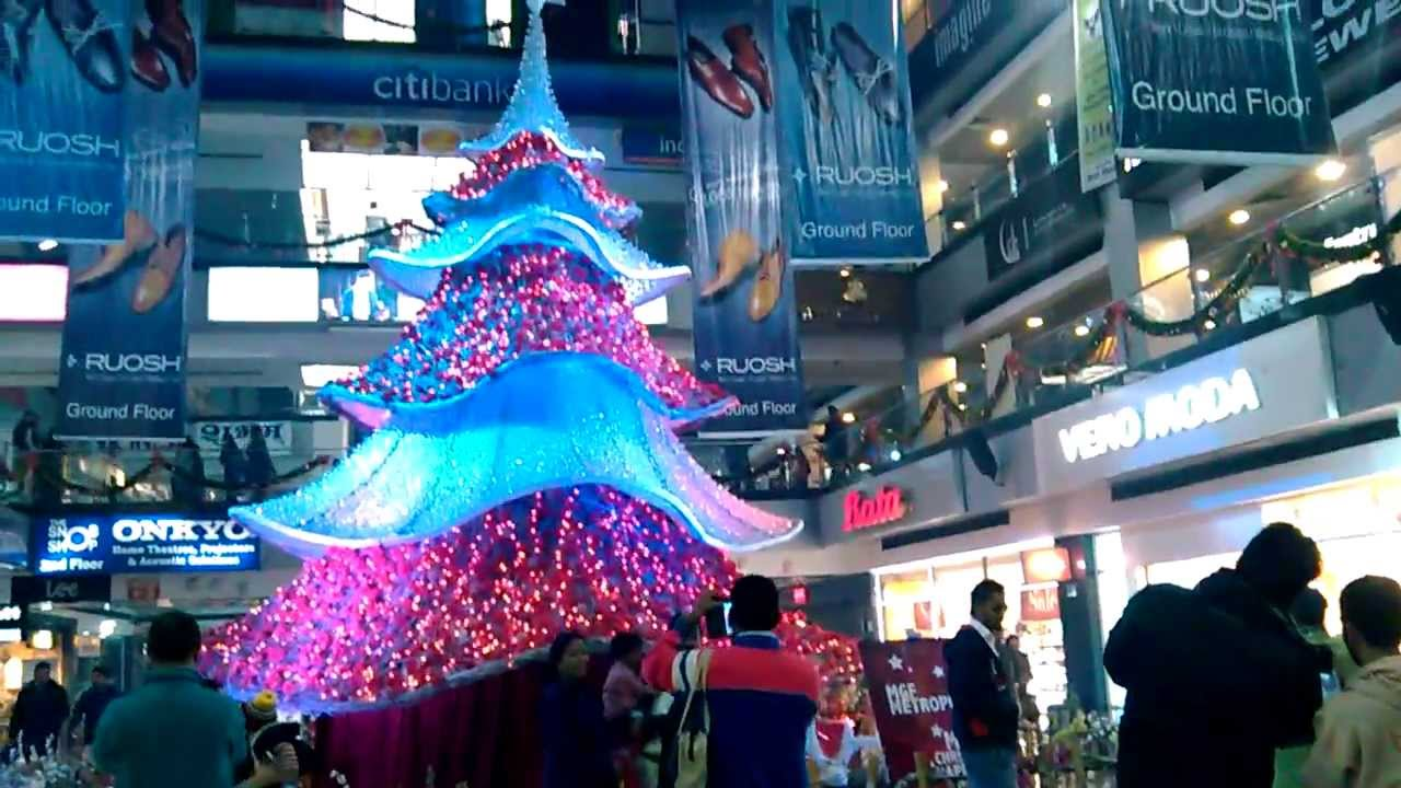 christmas new year decorations in mgf mall mg road gurgaon youtube - Mall Christmas Decorations