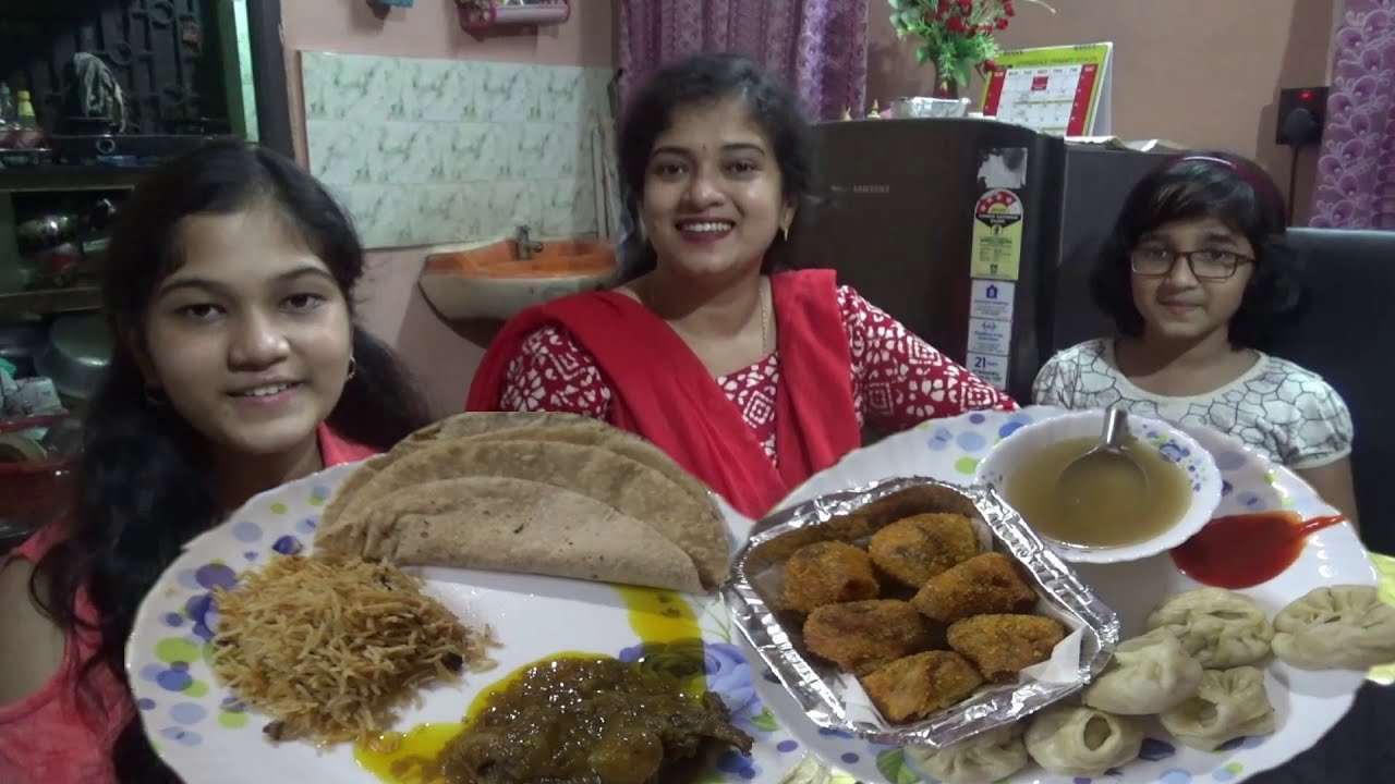 Enjoying Evening Snacks | Crispy Fried Momo & Dinner with Chicken & Biryani