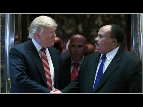 After feuding with civil rights leader John Lewis - Trump meets with Martin Luther King III