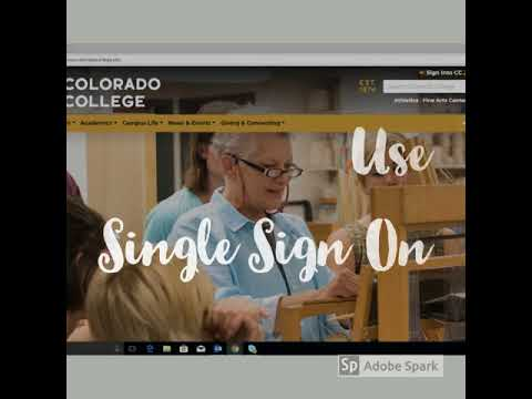 Colorado college single sign in