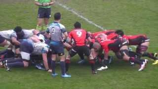 Japan Rugby Top League 東芝 vs クボタ 前半-1 ラグビートップリーグ 14 Nov. 2015