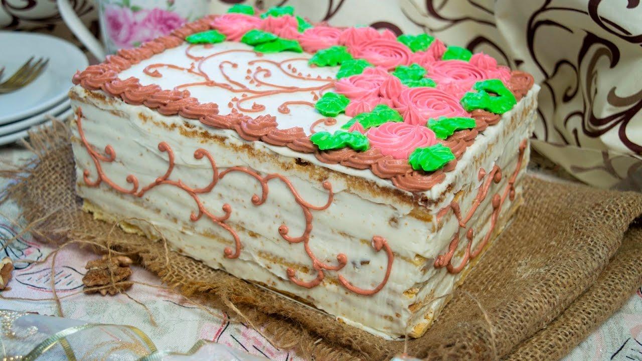 Медовик Как собрать и украсить торт - YouTube