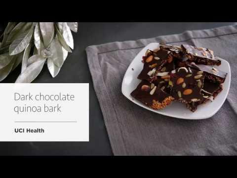 Dark Chocolate Quinoa Bark