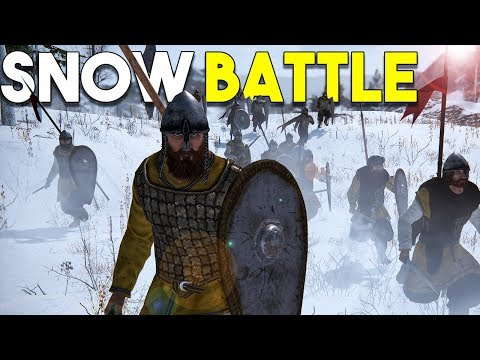 FIGHTING IN THE SNOW IN BANNERLORD!