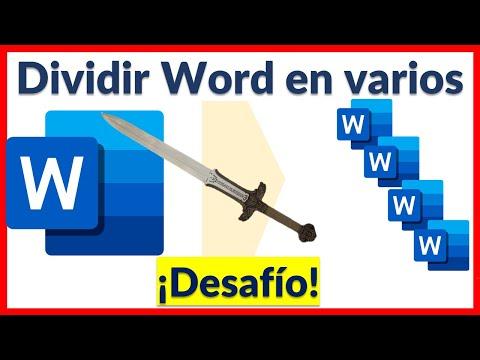 💪👩💻Desafio de Word. ¿Cómo dividir un documento de Microsoft Word en varios?