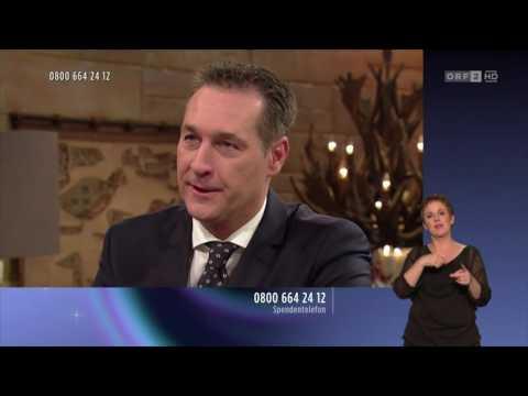 Heinz-Christian Strache (FPÖ) und Weihnachten