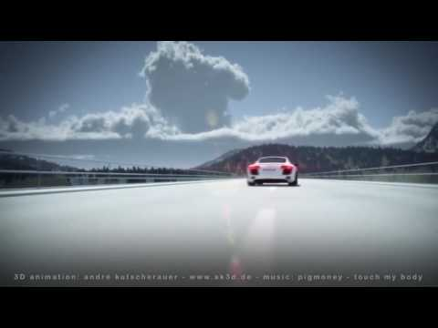 AK3D 3D car animation tutorial book Audi R8