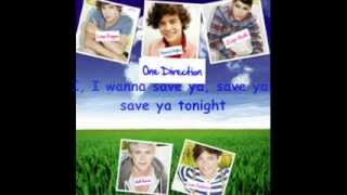 One Direction - Save You Tonight (Clean) [Lyric Video]