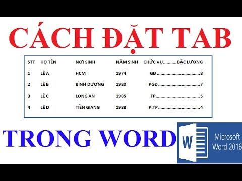 Cách đặt Tab đơn giản trong Word 2010