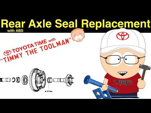 Toyota Rear Axle Seal/Bearing Replacement (ABS Rearend)