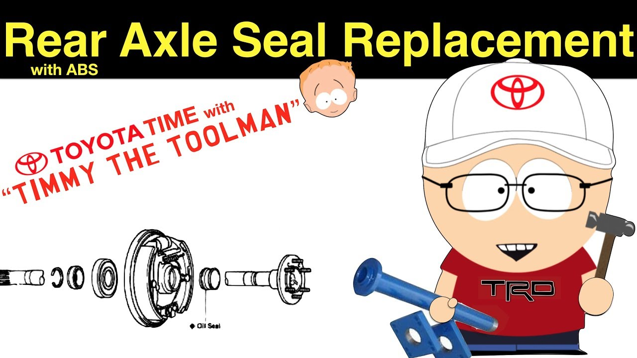 small resolution of toyota rear axle seal bearing replacement abs rearend