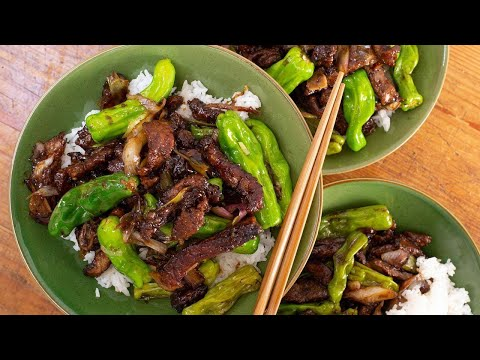 How To Make Mongolian Beef With Shishito Peppers By Rachael