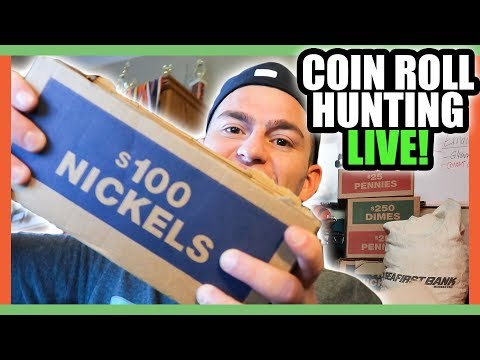 COIN ROLL HUNTING NICKELS - SEARCHING FOR SILVER COINS WORTH MONEY!!
