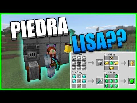 Nuevos Crafteos Piedra Lisa Minecraft Pe Youtube