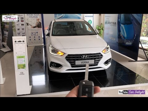 Hyunda Verna 2018 Sx Model Detailed Review With On Road Price Team Car Delight