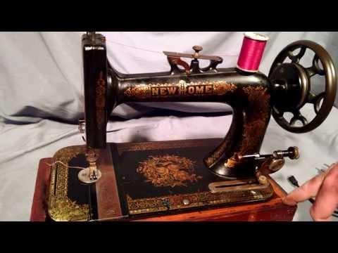 Serviced Antique New Home Ornate Floral Treadle Sewing Machine 3911904