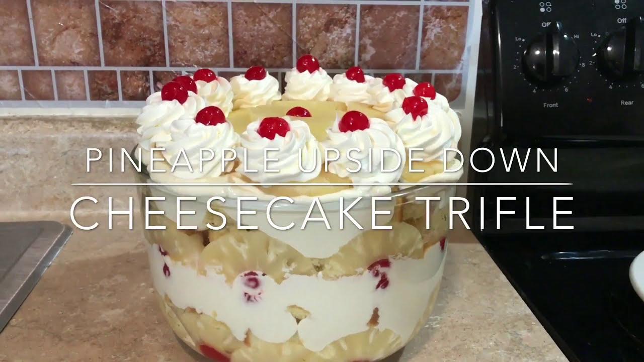 Pineapple Upside Down Cheesecake Trifle Bowl Youtube