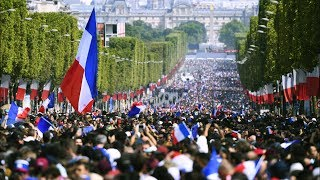 Victory parade: France welcomes home world champions - live!