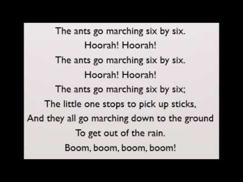 Nursery Rhymes - The Ants Go Marching Lyrics