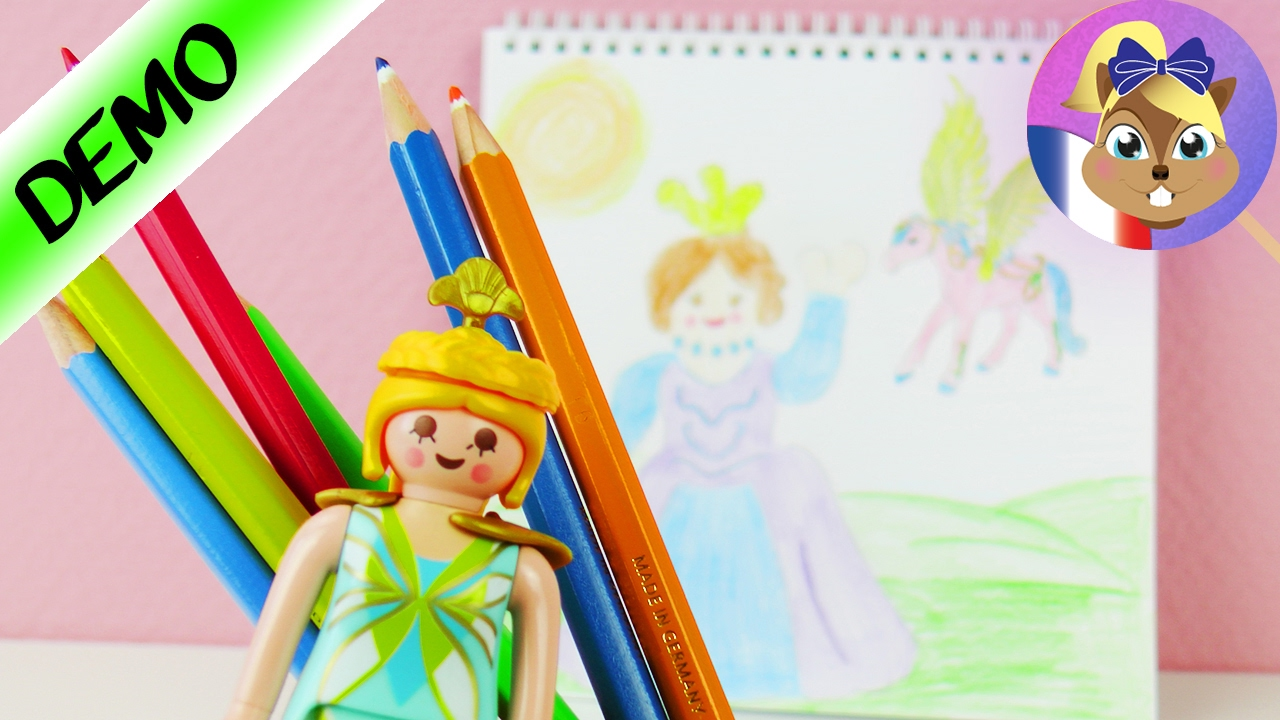Playmobil PRINCESS Livret de dessin et de coloriage  Dessiner une Princesse  YouTube